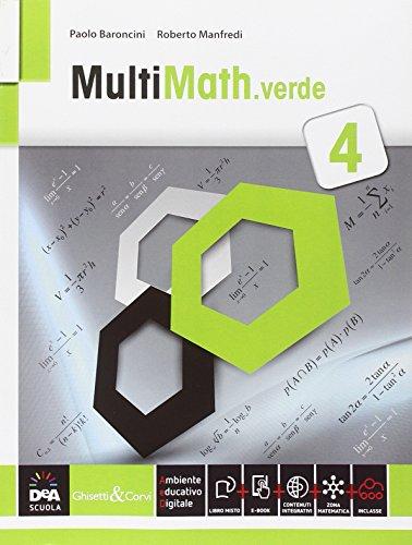 9788853805966: Multimath verde. Per le Scuole superiori. Con e-book. Con espansione online: 4