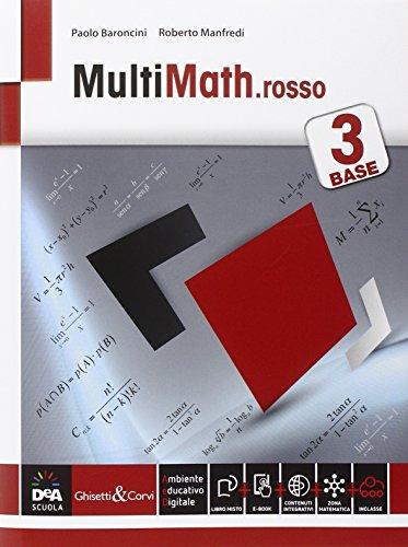 9788853806024: Multimath rosso. Livello base. Per le Scuole superiori. Con e-book. Con espansione online: 3