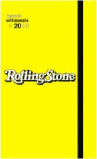 9788854012226: Rolling Stone. Agenda settimanale 2010. Gialla (formato grande)