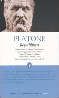 9788854123687: Repubblica. Testo greco a fronte. Ediz. integrale