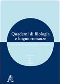 Quaderni di filologia e lingue romanze. Ricerche: Barbara Bottari; Daniela