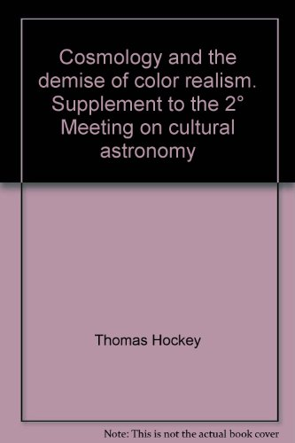 Cosmology and the demise of color realism.: Hockey, Thomas