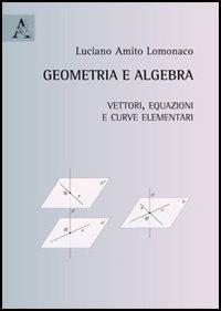 9788854862470: Geometria e algebra. Vettori, equazioni e curve elementari