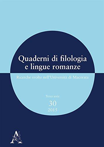 Quaderni di filologia e lingue romanze. Ricerche