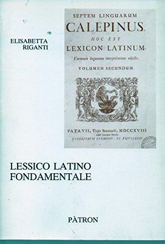 9788855521017: Lessico Latino Fondamentale