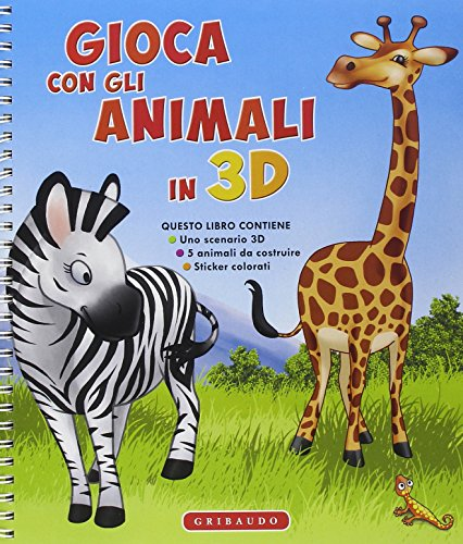 9788858011775: Gioca con gli animali in 3D. Con adesivi. Ediz. illustrata