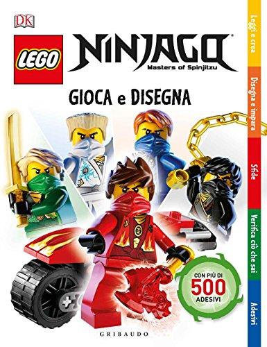 9788858017548: Gioca e disegna. Lego Ninjago. Masters of Spinjitsu. Con adesivi. Ediz. a colori