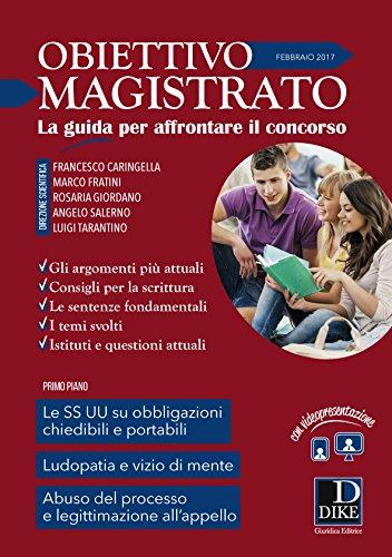 Rivista obiettivo magistrato (2017): Francesco Caringella; Marco