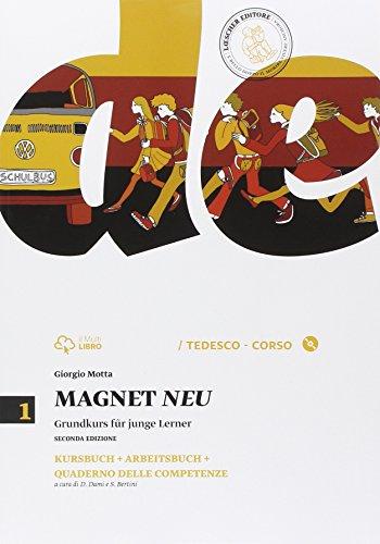 9788858313107: Magnet neu. Kursbuck-Arbeitsbuch-Quaderno delle competenze. Per la Scuola media. Con CD Audio formato MP3. Con espansione online: 1