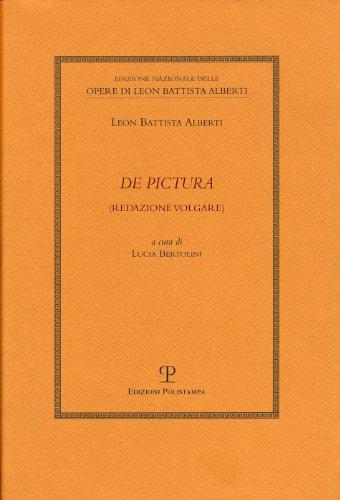 9788859610502: De Pictura: Redazione Volgare (Edizione Nazionale Delle Opere Di Leon Battista Alberti) (Italian Edition)