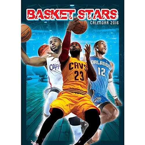 9788859708544: Basketball Stars A3 Calendar 2016