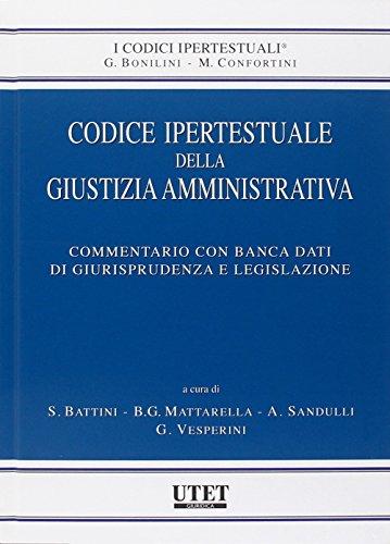 9788859801979: Codice ipertestuale della giustizia amministrativa. Con CD-ROM