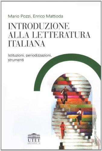 9788860080615: Introduzione alla letteratura italiana