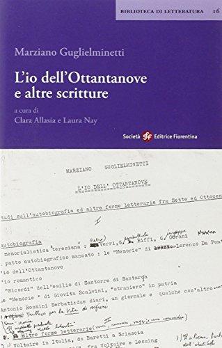 L'io dell'ottantanove a altre scritture (8860320569) by Marziano Guglielminetti