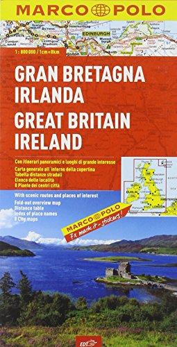 9788860408228: Gran Bretagna, Irlanda 1:800.000. Ediz. multilingue