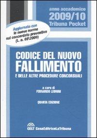 9788861323629: Codice del nuovo fallimento e delle altre procedure concorsuali (Tribuna pocket)