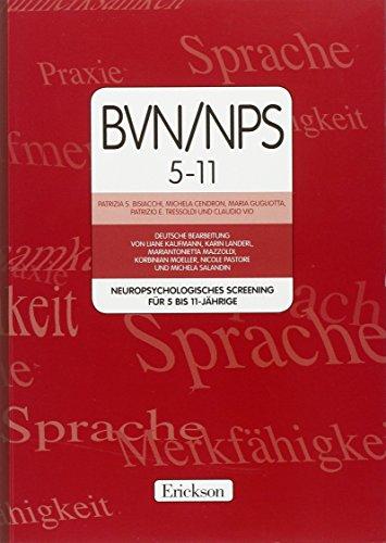 9788861374027: BVN/NPS 5-11. Neuropsychologisches screening für 5-11-jahrige. Con CD-ROM