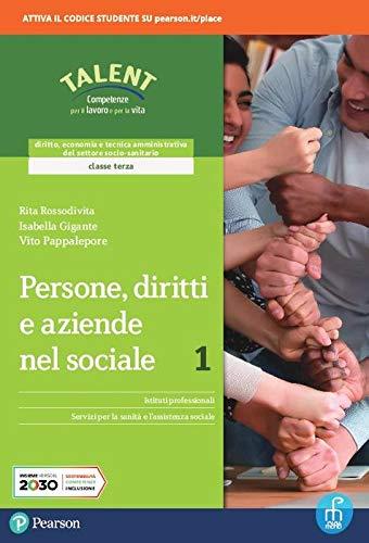 9788861603912: Persone, diritti e aziende nel sociale. Per il triennio degli Ist. professionali. Con e-book. Con espansione online (Vol. 1)