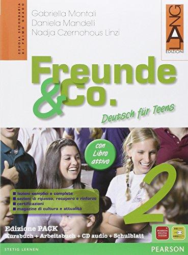 9788861610439: Freunde & Co. Kursbuch-Arbeitsbuch-Activebook-Schulbatt. Per la Scuola media. Con CD Audio: 2