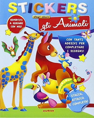 9788861759305: Gli animali. Con adesivi. Ediz. illustrata (Allegri adesivi)