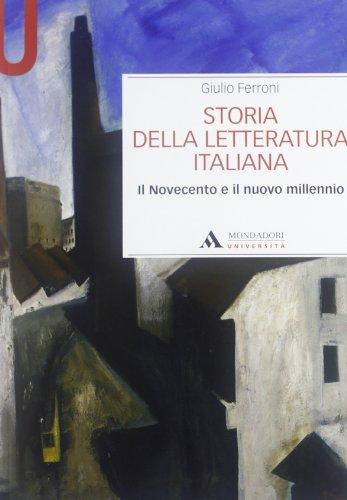 9788861840829: Storia della letteratura italiana. Il Novecento e il nuovo millennio