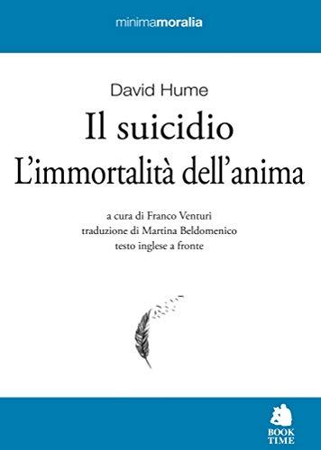 9788862183161: Il suicidio-L'immortalità dell'anima. Testo inglese a fronte. Ediz. bilingue
