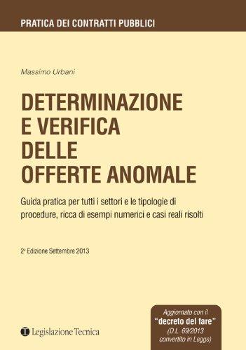 9788862191708: Determinazione e verifica delle offerte anomale