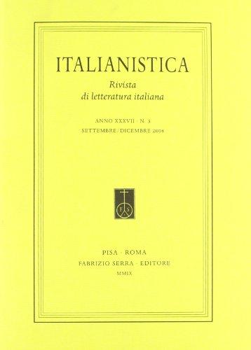 Italianistica. Rivista di letteratura italiana. 37. 3. 2008. Ludovico Ariosto: nuove prospettive e ricerche in corso.
