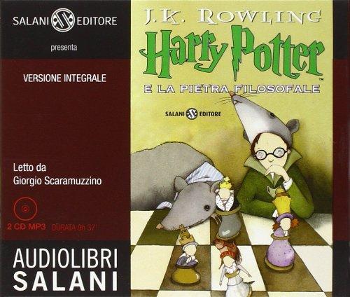 9788862561358: Harry Potter e la pietra filosofale. Audiolibro. 2 CD Audio formato MP3 (Audiolibri) : Italian edition of Harry Potter and the Philosopher's Stone