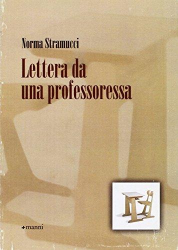 Lettera da una professoressa: Norma Stramucci