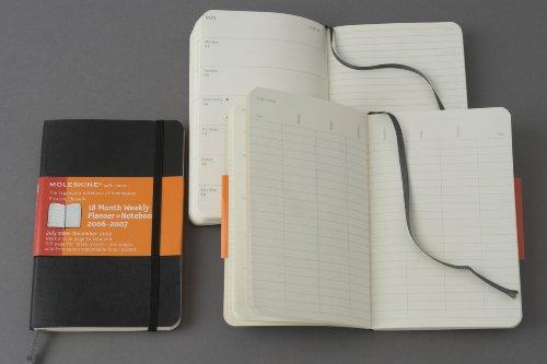 9788862930376: Moleskine Academic Weekly Notebook 2010 18 Month Soft Black Pocket (Moleskine Diaries)