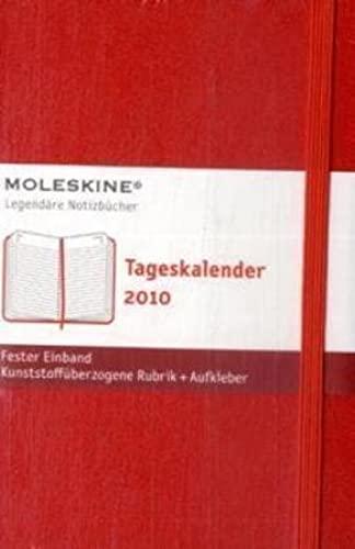9788862930857: Agenda Journalier 2010 Poche Couv. Rigide Rouge (Moleskine Srl)