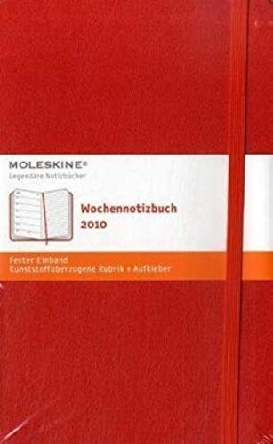 9788862930918: Moleskine Weekly Notebook 2010 12 Month Red Hard Large