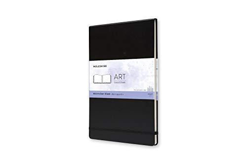 9788862931946: Moleskine Art Plus Watercolor Album, A4, Black, Hard Cover (12 x 8.5) (Professional Folio Series)