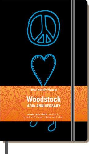 9788862932875: Woodstock Moleskine Ruled Notebook Black: Peace, Love, Music (Moleskine Srl)