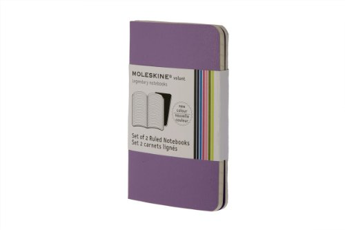 9788862933308: Moleskine Volant Notebook (Set of 2 ), Extra Small, Ruled, Light Violet, Brilliant Violet, Soft Cover (2.5 x 4)