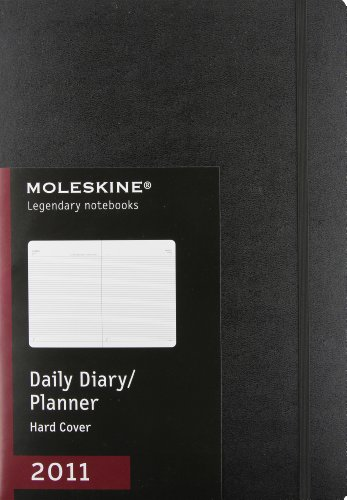 9788862933438: Moleskine 2011 12 Month Professional Daily Planner Black Hard Cover A4