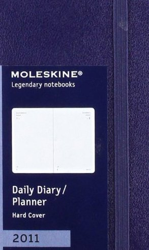 9788862933469: Moleskine 2011 12 Month Daily Planner Prussian Blue Hard Cover X-Small (Moleskine Diaries)