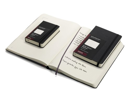 9788862933803: Moleskine 2011 12 Month Daily Planner Black Hard Cover Pocket