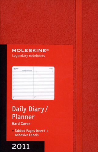 9788862933902: Moleskine 2011 12 Month Daily Planner Red Hard Cover Pocket