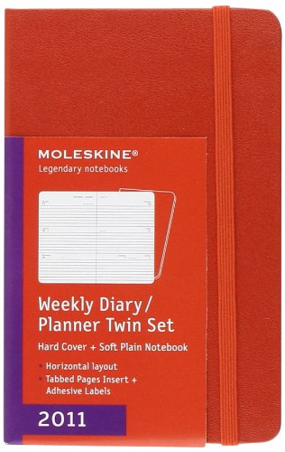 9788862933926: 2011 Moleskine Red Twin Set Pocket Weekly Diary 12 Months Hard (Moleskine Diaries)