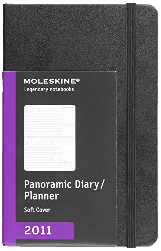 9788862934053: Moleskine 2011 12 Month Professional Panoramic Planner Black Soft Cover Pocket