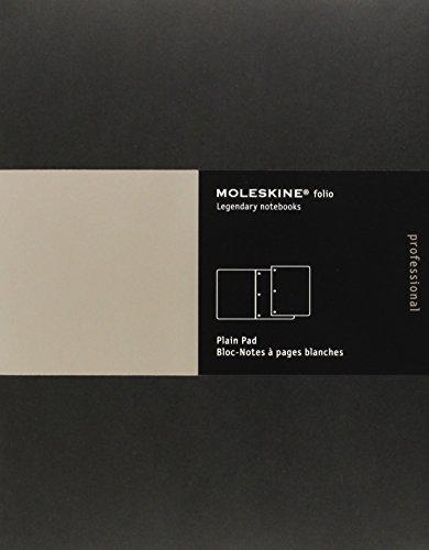 Moleskine Folio Professional Note Pad, Letter, Plain, Black 8.5 x 11 Professional Folio Series: ...