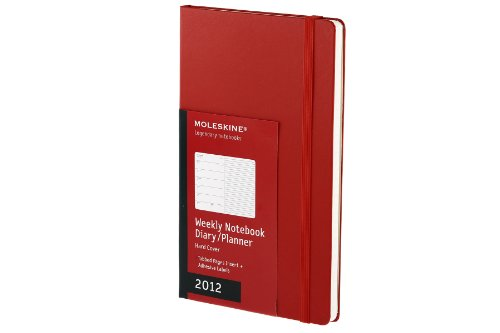 Moleskine 2012 12 Month Weekly Notebook Planner Red Hard Cover Large (Moleskine Legendary Notebooks...