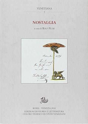 9788863721133: Nostalgia. Memoria e passaggi tra le sponde dell'Adriatico