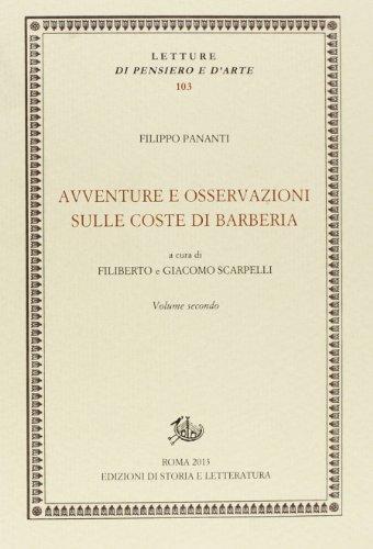 Avventure e osservazioni sulle coste di Barberia vol.2.: Pananti,Filippo.