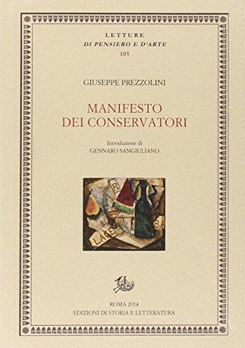 Manifesto dei conservatori: Giuseppe Prezzolini