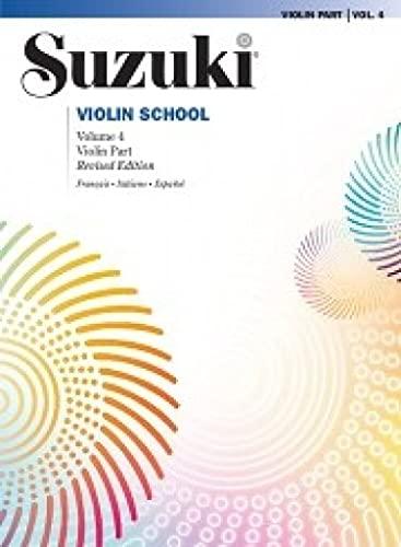 9788863880380: Suzuki violin school. Ediz. italiana, francese e spagnola: SUZUKI VIOLIN SCHOOL 4