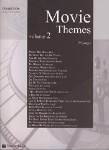 Movie Themes, für Klavier und Gesang. Vol.2 : 25 Songs