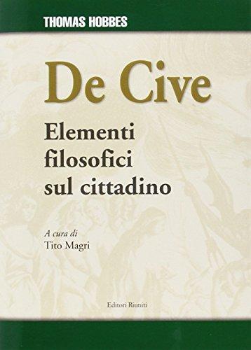 9788864731643: De cive (Saggi. Storia e letteratura)